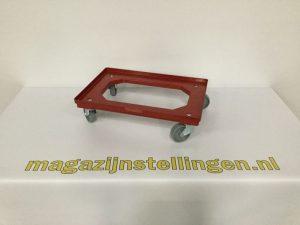 magazijnstellingen-dolly 60x40 rood